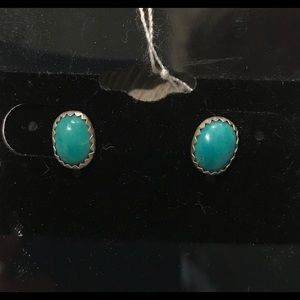 Jewelry - Turquoise Sterling and fine silver earrings